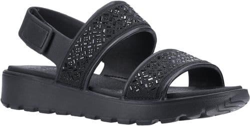 Skechers Footsteps Glam Party Sandal Ladies Summer Black